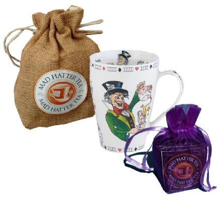 Mad Hatter Tea with Porcelain 15oz Mug